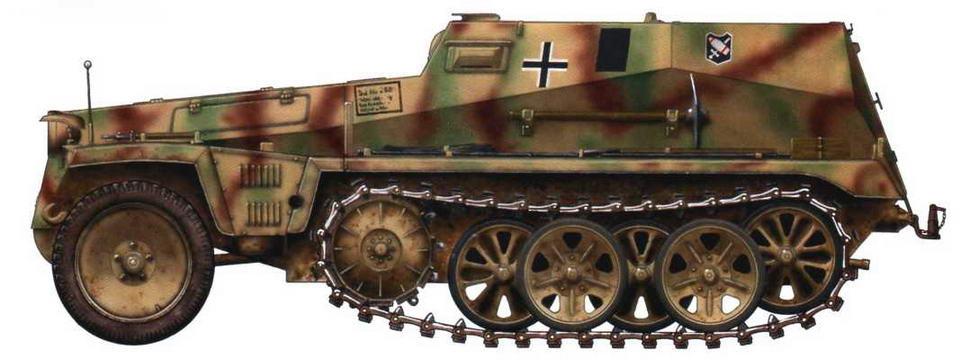 Машина артиллерийской инструментальной разведки Sd.Kfz.250/12. Восточный фронт, район Кенигсберга, 1945 г.