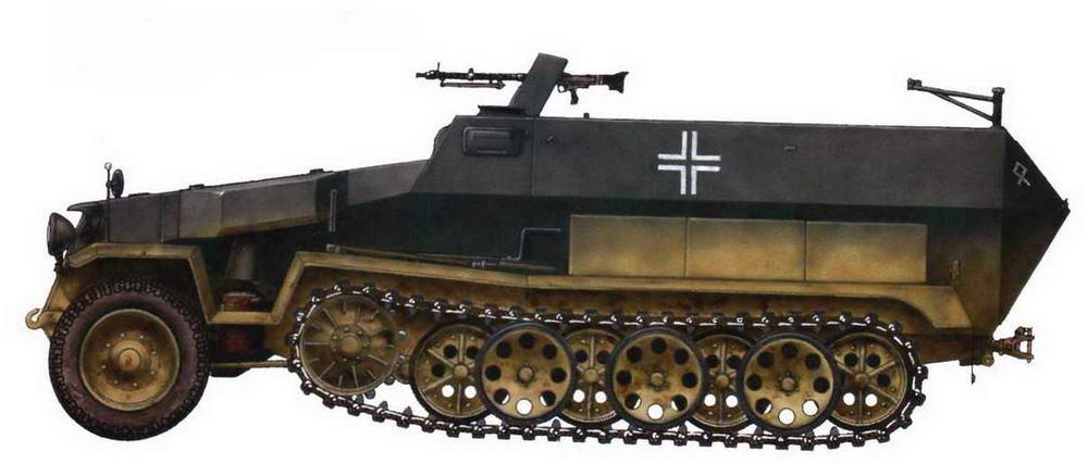 Средний бронетранспортер Sd.Kfz.251/1. 108-й мотопехотный полк 14-й танковой дивизии. Восточный фронт, сентябрь 1942 г.
