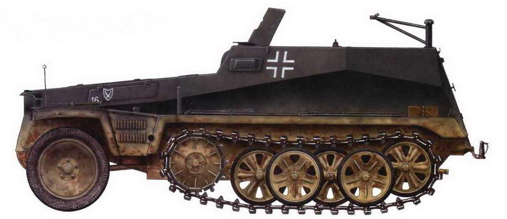 Легкий бронетранспортер Sd.Kfz.250/1. 94-я <a href='https://arsenal-info.ru/b/book/3718672302/52' target='_self'>пехотная дивизия</a>. Восточный фронт, октябрь 1942 г.