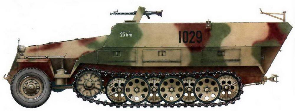 Средний бронетранспортер Sd.Kfz.251/1 Ausf.D. Германия, 1945 г.