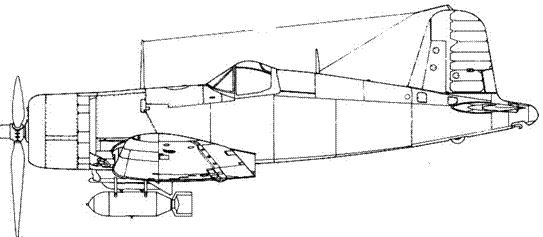 F4U-1A с 1000-фунтовой (454 кг) бомбой