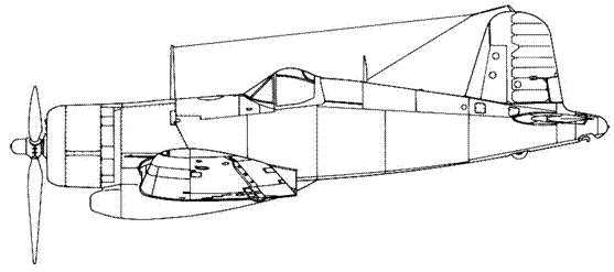 XF4U-3 с трехлопастным винтом и турбокомпрессором