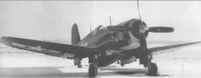 Второй прототип усовершенствованного «Корсара», XF4U-4 (BuNo 80760), проходил в январе 1945 года интенсивные испытания в Патуксент Ривер, Мериленд. Под пилонами в корневой части крыла могли подвешиваться 453-кг бомбы или 582-литровые топливные баки. Капот раскрашен в желтый, красный и черный цвета.