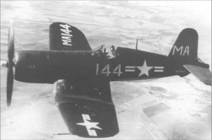 В полете над Техасом F4U-4 (BuNo 96942) из VF-ATU-1 (Fighter-Advanced Training Unit – One), базировавшейся в 1949 году на аэродроме Кабанисс Филд.