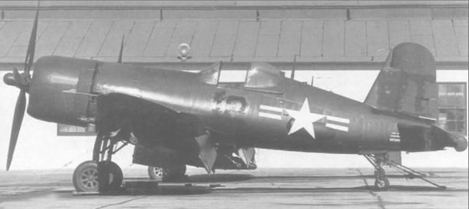 F4U-4P (BuNo 97507) завершил в 1949 году службу в VMP-254 в Эль Торо, Калифорния, и ожидает передачи в другую эскадрилью. Поэтому все обозначения на борту закрашены. Воут построила всего девять фоторазведчиков.