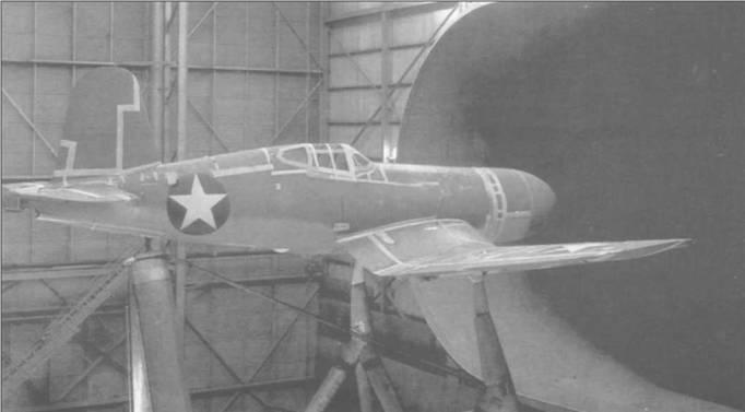 19 октября 1942 года F4U-1 (02161) проходит испытания в натурной аэродинамической трубе в Лэнгли, целью которых было уменьшение аэродинамического сопротивления самолета. Все стыки на самолете были заклеены лентой, а в носовой части, чтобы улучшить аэродинамику, был установлен обтекатель.