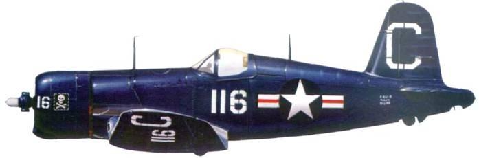 F4U-4 из VF-61, 6-я авиагруппа, авианосец «Мидуэй», 1949 г.