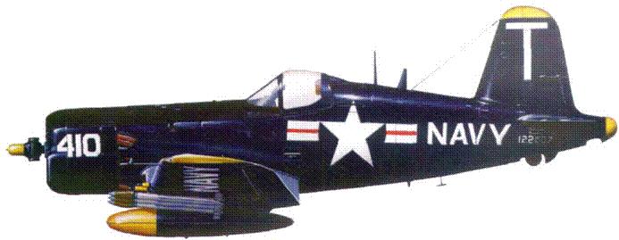 F4U-5 из VF-14, авианосец «Франклин Рузвельт», лето 1953 г.