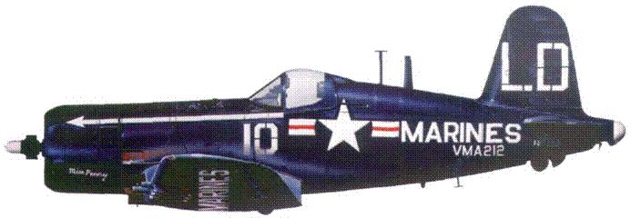 AU-1 из VMA-212, Корея, лето 1952 г.