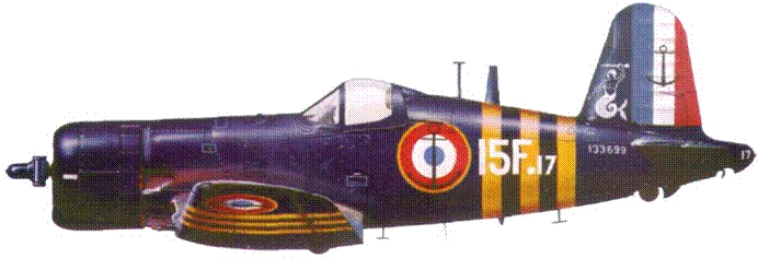 F4U-7 из Флотилии 15F, Суэц, 1956 г.