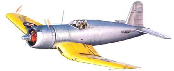 XF4U-1 совершил первый полет в мае 1940 г.