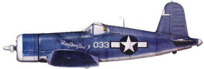 F4U-1A «RING-DANG-DOO» из VMF-217, Пелейлу, сентябрь 1944 г.