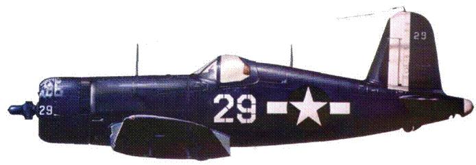 F4U-1D из VBF-10, авианосец «Интрепид», Окинава, апрель 1945 г.