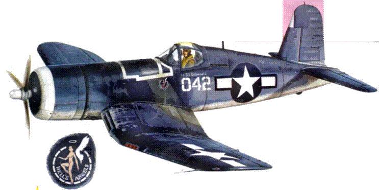 F4U-1A из VMF-321 «Ангелы ада», 1943 г.