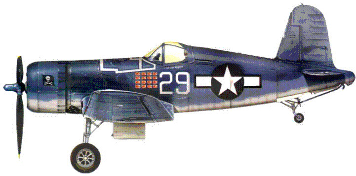 F4U-1A из VF-17 лейтенанта Айка Кэпфорда, 1944 г.