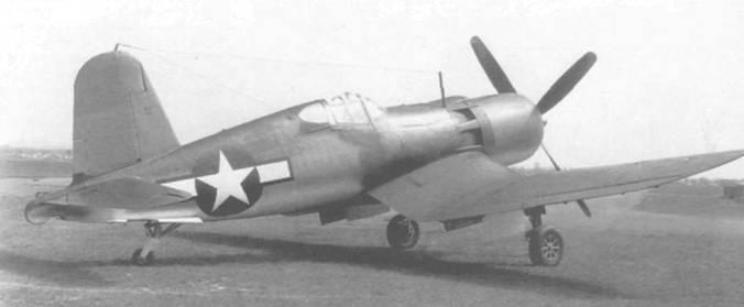 F4U-1 (02460) был доработан Воут для летных испытаний мотора Пратт-Уитни R-4360 «Уосп Мэйджор» в 1944 году. Этот «Корсар», снабженный четырехлопастным винтом, был «дедушкой» модификации F2G.