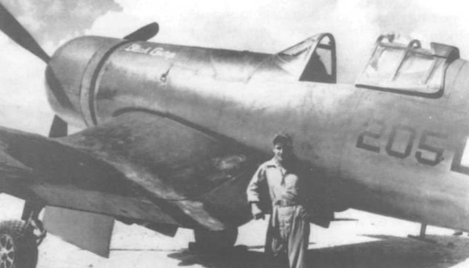 F4U-2, бортовой номер 205, из VMF(N)- 532 назывался Black George и на нем летал лейтенант Пол Долхоуд. Эскадрилья недавно прибыла на Тараву и в течение февраля 1944 года использовалась для ночного патрулирования над островом. Ночами одиночные вражеские самолеты часто кружили над островом, беспокоя американские войска. Этих непрошенных «гостей» янки называли «стиральные машины» за характерный монотонный звук их моторов.
