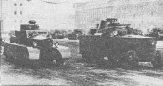 Бронеавтомобиль БАД-2 переплывает Неву во время испытаний. Лето 1932 года (АСКМ).
