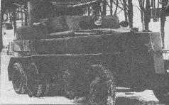 Один из первых трех образцов ПБ-4, вид сзади. Зима 1933 года. На задней части башни виден люк для съема пушки (музей Ижорского завода).