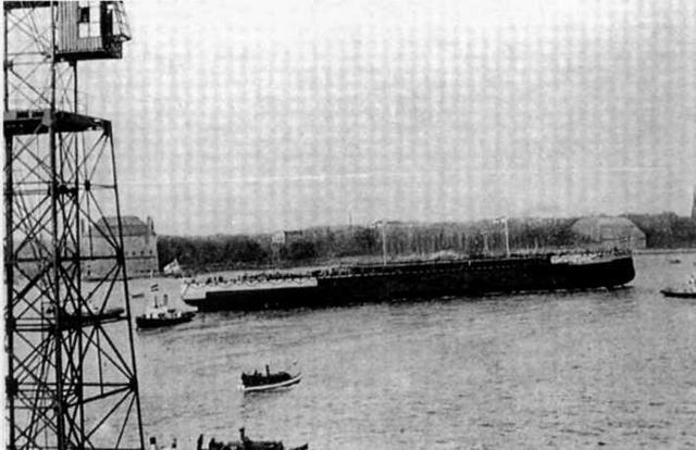 """Линейный корабль """"Кайзер"""" после спуска на воду. 22 марта 1911 г."""