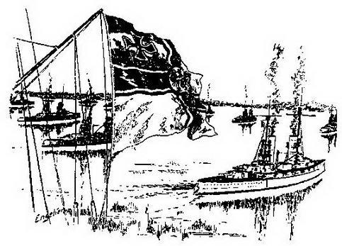 На рейде (С рисунка того времени)