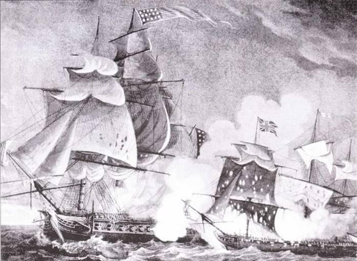 Напряженные отношения между Британией и Соединенными Штатами вылились в инцидент с фрегатом Chesapeake, произошедшим в 1811г. Следом произошел инцидент с британским шлюпом Little Belt, который отказался обозначить себя и был обстрелян американским фрегатом President.