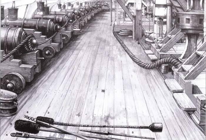 Орудийная палуба фрегата Хамфриза