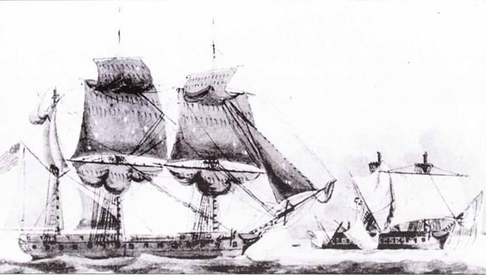 Спусти несколько недель после победы Constitution, фрегат United States перехватил в море британский фрегат Macedonian. Капитан американского корабля Стивен Декейтер воспользовался своим превосходством в артиллерии, и издалека расстрелял противника, почти не потерпев ущерба.