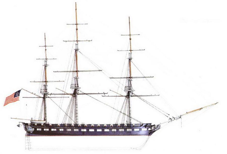 USS Brandy wine — такелаж