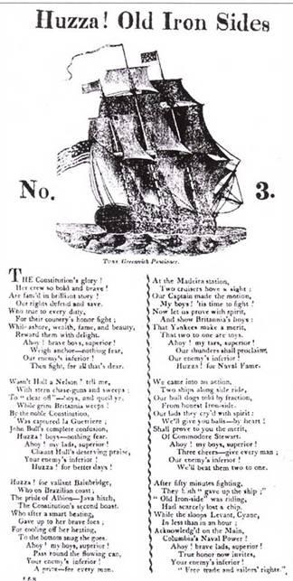 Американские победы над британским флотом встретили горячее одобрение среди американской общественности. О победах моряков слагались песни.