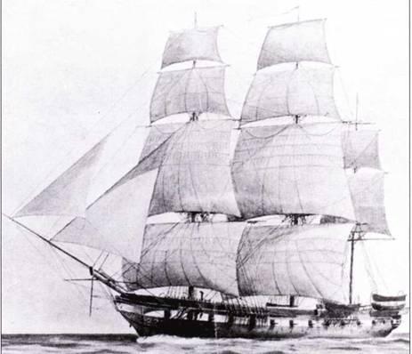 Cumberland был спущен па воду как фрегат, но в 1856г. его переделали в шлюп I-го ранга, пытаясь продлить службу корабля.