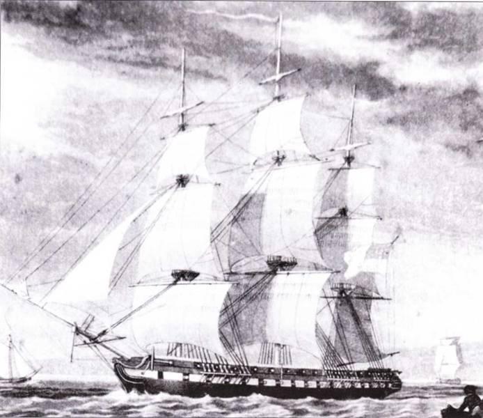 Hudson был последним американским парусным фрегатом, построенным частным подрядчиком. Более крупный нежели фрегаты «постепенного роста» он не пользовался популярностью на флоте.
