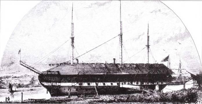 Independence был спущен на воду как <a href='https://arsenal-info.ru/b/book/2587171837/1' target='_self'>линейный корабль</a>, но в 1836г. его переделали во фрегат. После долгой службы на Тихом океане корабль использовали в качестве блокшива. Он оставался в Сан-Диего еще в начале XX чека.