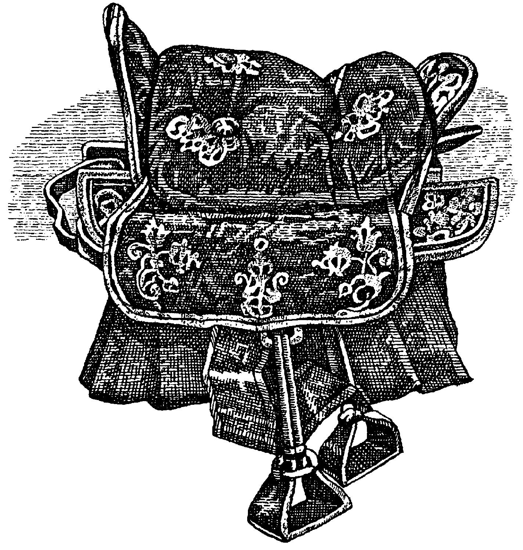 Седло со стременами