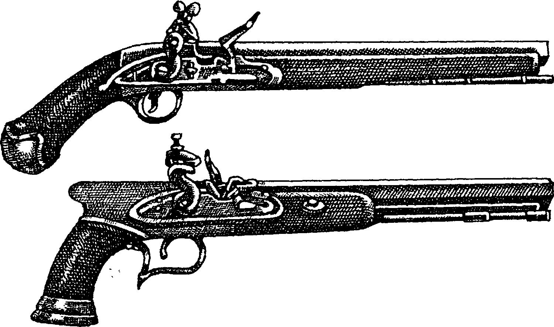 Кремневые дуэльные пистолеты