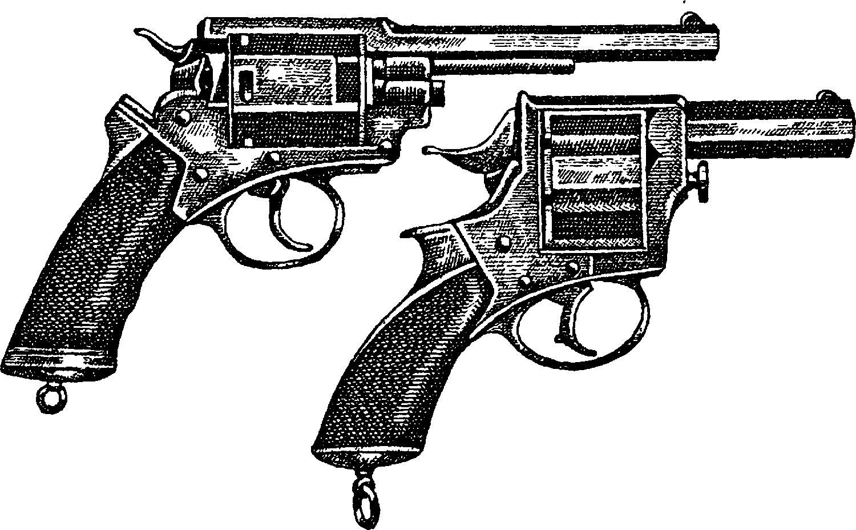 Револьверы системы В. Трентера и Дж. Адамса