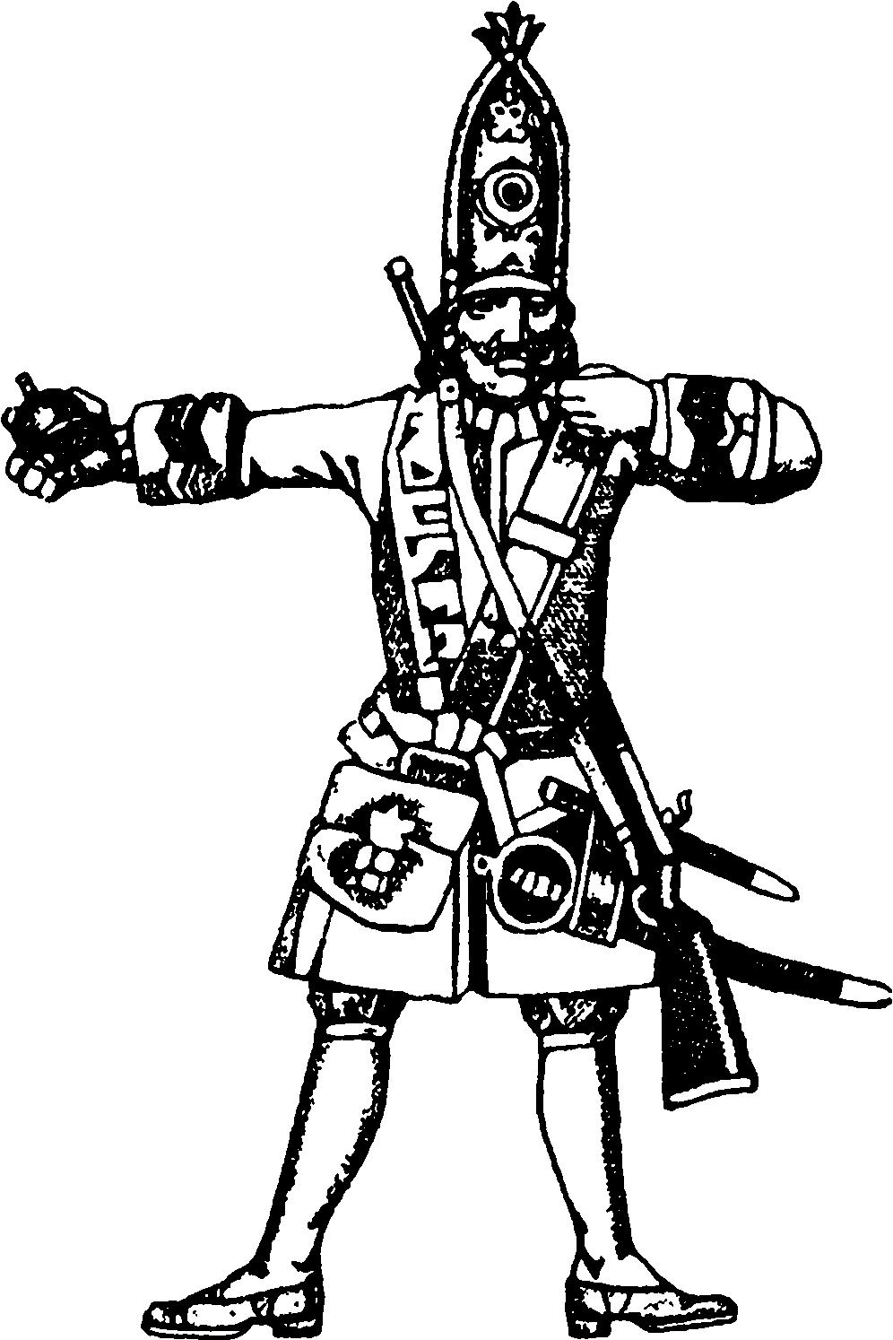 Гренадер с гранатой
