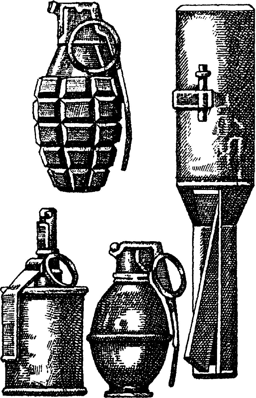 Наступательные ручные гранаты