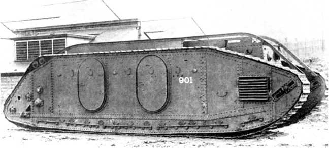 «Десантный танк» Mk IX — первый бронетранспортер с вездеходным движителем.