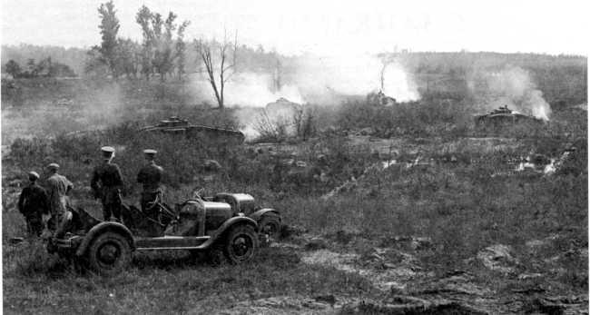 Учения тяжелых танков Mk VIII в Кэмп Миэд. 1925г.