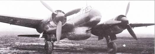 Ju-88P-3, вооруженный двумя 37-мм пушками в подфюзеляжном обтекателе.