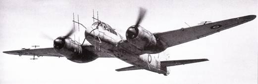 Истребитель Ju-88G-I с радиолокатором SN-2 и устройством FiiG-227 «Фленсбург».