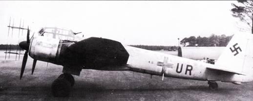 13 июля 1944 г. этот Ju-88G-1 из 7JNJG-2 по ошибке выполнил посадку на базе RAF в Вудбридже, в результате чего в руки англичан попал секретный радиолокатор «Лихтенштейн» SN-2 и не менее секретное устройство FuG-227 «Фленсбург».