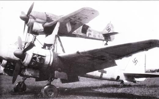 «Мистель-2» – комбинации истребителя Fw-190A/F и бомбардировщика Ju-88G-I. Эта сцепка принадлежала II./KG-200. Сцепка была захвачена союзниками на аэродроме в Мерсебурге, где немцы готовили операцию «Эйзенхаммер» – налеты на советские промышленные центры.