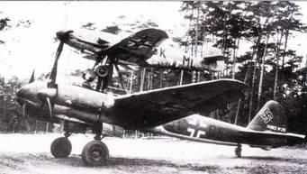 «Мистель-1» – комбинации истребителя Bf. 109F и бомбардировщика Ju-88A-4.