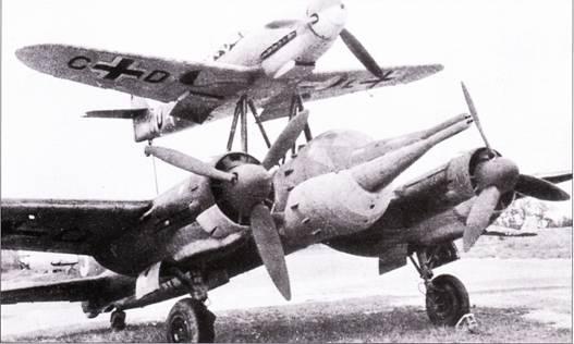 Боеготовый «Мистель-1» с установленной на бомбардировщике боевой частью – единственный варианте «Мистепя», использованный в боевых действиях.