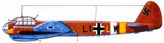 Ju-88A-10 (Ll+LlV), I2./LG 1, аэродром Мартуба, Ливия, 1942 г.