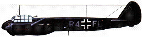 JU-88C-4 (R4+FL), 1JNJG 2. Бенгази, Ливия. 1941/42 гг.