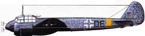 Ju-88C-6 (C9+DE), IV./NJG 5. Ни киле обозначены 29 побед: 24 над англичанами и 5 над советами. Нилот капитан Принц цу Зайн-Виттгешитейн, вторая половина 1943 года, Орша, Восточный фронт.