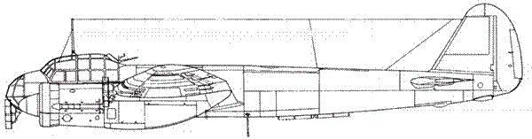 Junkers 88 A-6U с радаром FuG 200 Hohentwiel и антеннами в крыле и фюзеляже